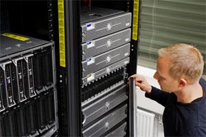 IT Computer Repair Technician Working